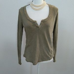 Free people long sleeve shirt size small